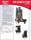 CPE Series Effluent Pump Info
