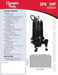 CPG 2HP Grinder Pump Info